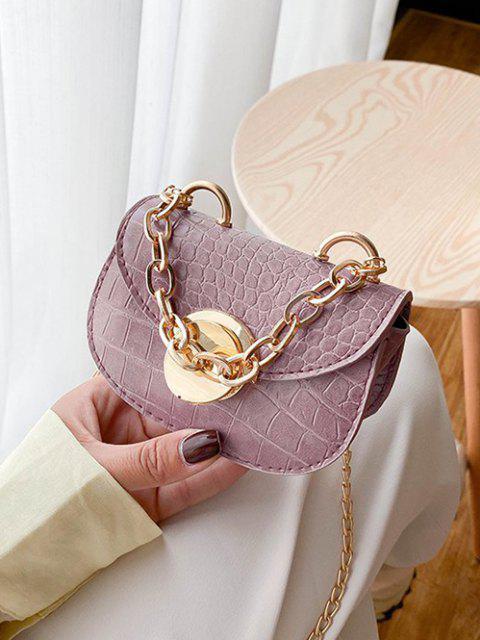 buy Chain Mini Saddle Bag - LILAC  Mobile