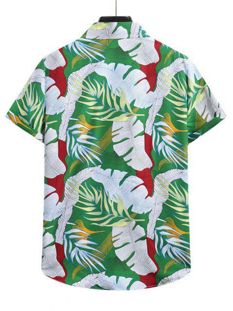 Tropisches Blatt Urlaub Hemd - Kleeblatt Grün XL Mobile