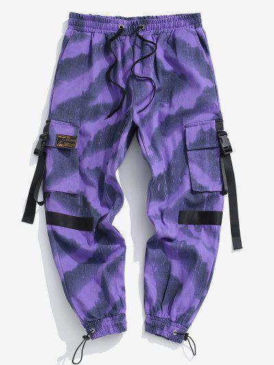 Tie Tye Imprimare Pantaloni De Marfă - Violet L