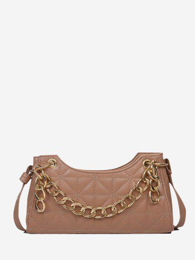 Chain Quilted Shoulder Bag - Khaki