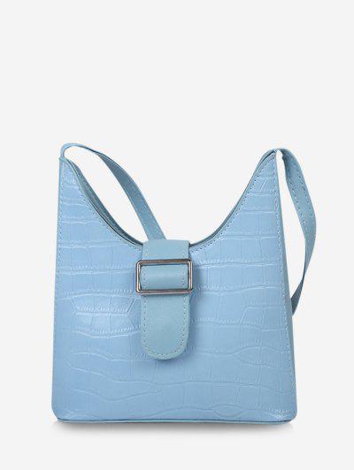 Bolsa Al Hombro Adornado - Azul Cristal