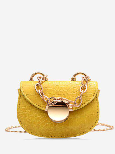 Chain Mini Saddle Bag - Bee Yellow