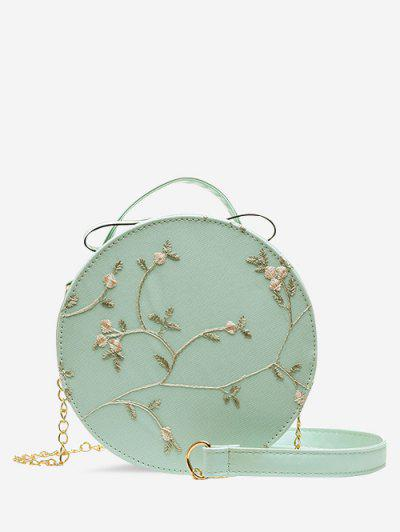 Embroidery Floral Lace Canteen Bag - Medium Turquoise