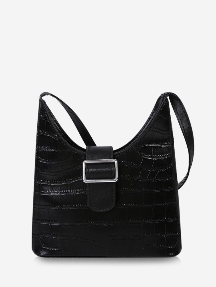 Buckle Embellished Shoulder Bag