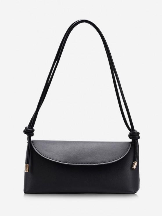 best Knotted Strap Cover Shoulder Bag - BLACK