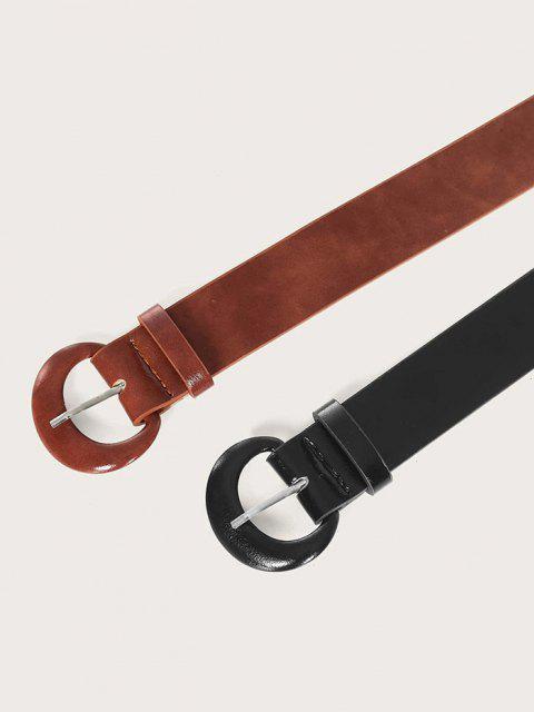 Set Cintura in Pelle Sintetica a Forma di C 2Pz - Multi Colori  Mobile
