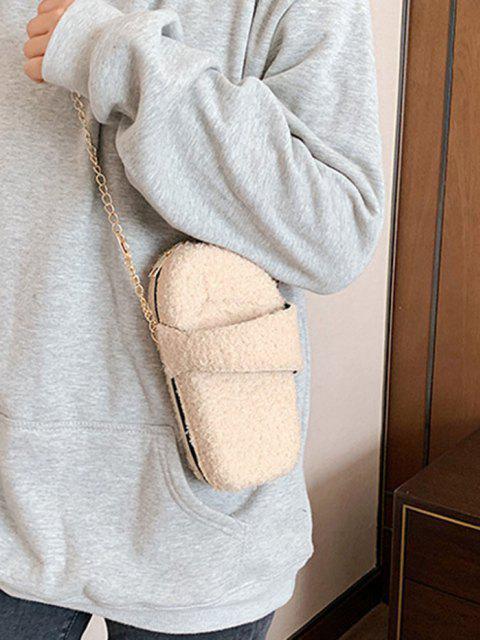 Bowkontform Flauschige Kette Umhängetasche - Beige  Mobile