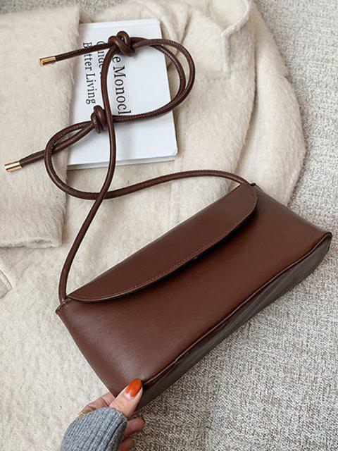 new Knotted Strap Cover Shoulder Bag - COFFEE  Mobile