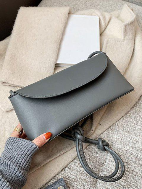 outfits Knotted Strap Cover Shoulder Bag - SMOKEY GRAY  Mobile