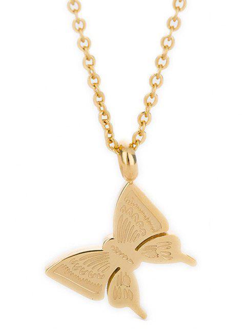 Colgante de acero inoxidable colgante de mariposa - Oro  Mobile