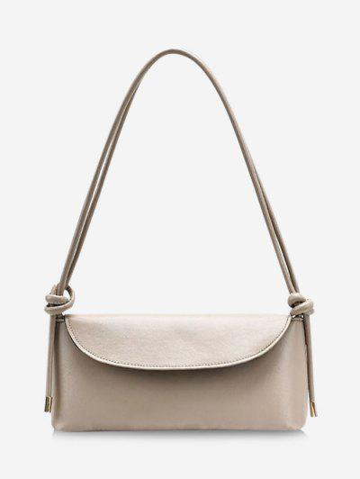 Knotted Strap Cover Shoulder Bag - Khaki