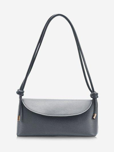 Knotted Strap Cover Shoulder Bag - Smokey Gray