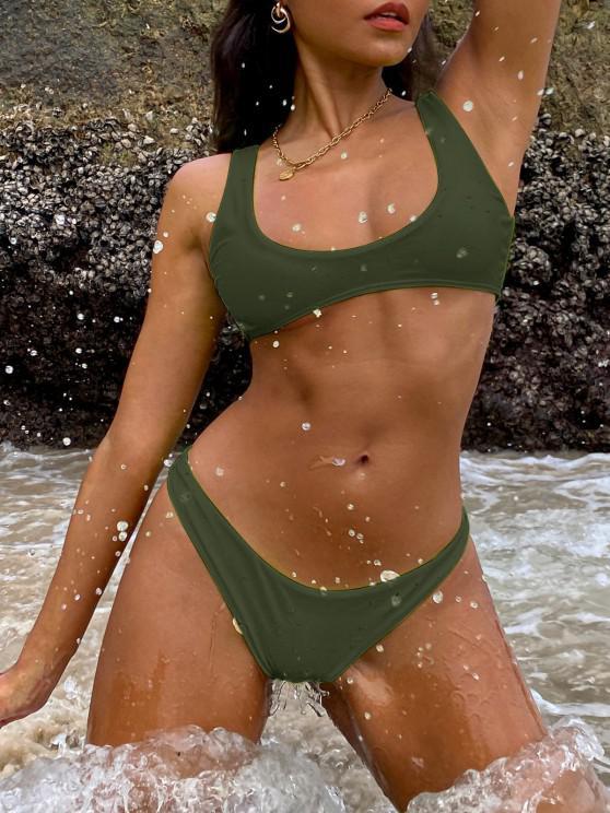 buy High Cut Bikini Set - ARMY GREEN S