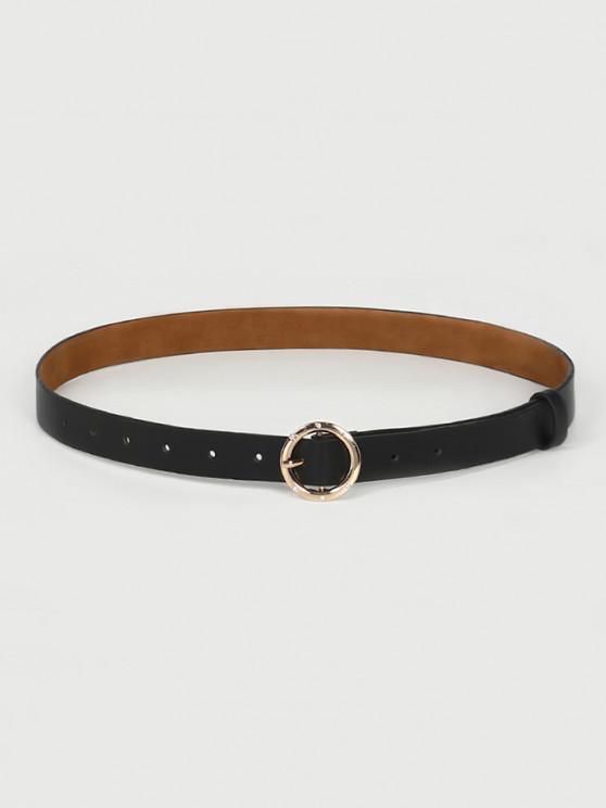 chic Circular Rhinestone Buckle Belt - BLACK