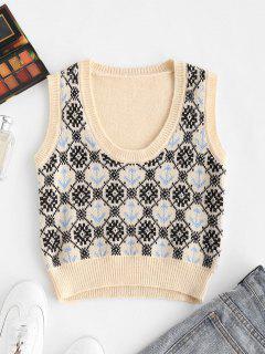 Anchor Snowflake Sweater Vest - Multi