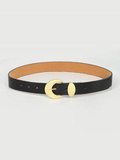 Moon Shape Pin Buckle Belt - Black
