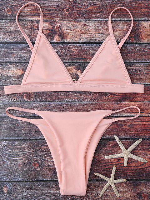 Conjunto de bikini de cadena Plunge de Cami - Rosado M Mobile