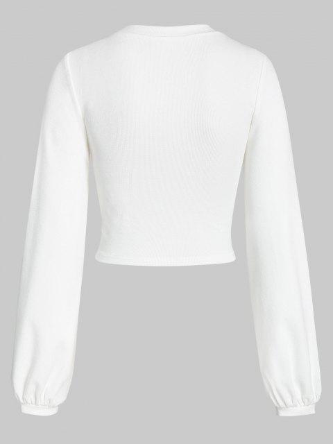 ZAFUL Sweat-shirt Corset Court Sous-Poitrine - Blanc Lait XL Mobile