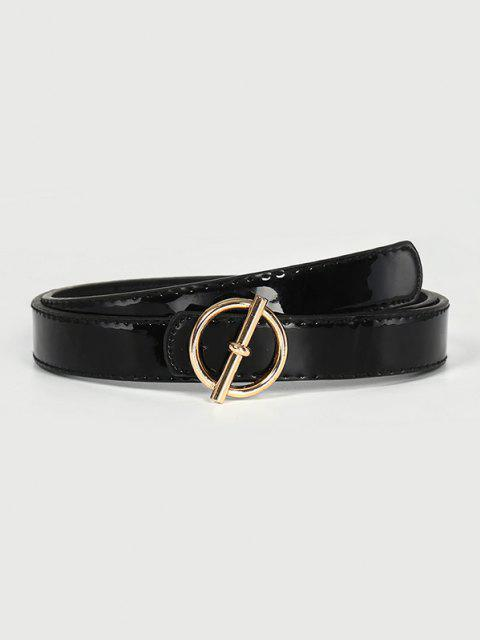 sale Brief Geo Buckle Belt - BLACK  Mobile