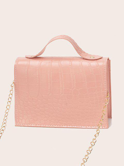 Bolsa Cadena Cruzada Estampado Letra - Rosa Naranja  Mobile