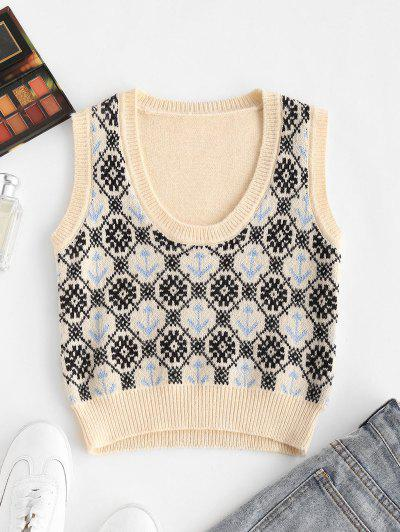 Anchor Snowflake Sweater Vest - Multi