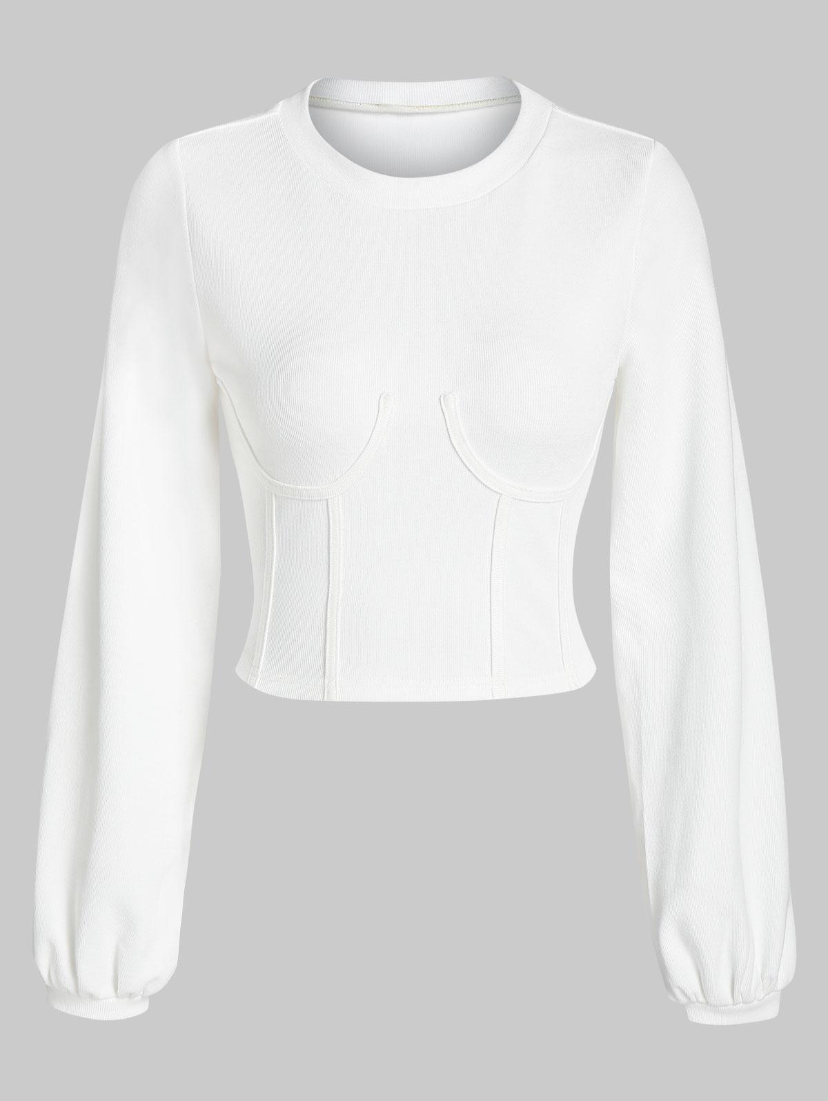 ZAFUL Sweat-shirt Corset Court Sous-Poitrine Xl - Zaful FR - Modalova