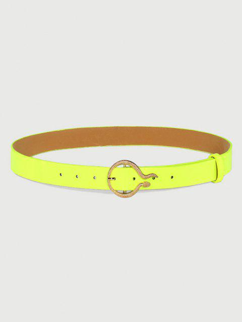 best Glaring Fluorescent Carved Golden Snake Buckle Belt - TEA GREEN  Mobile