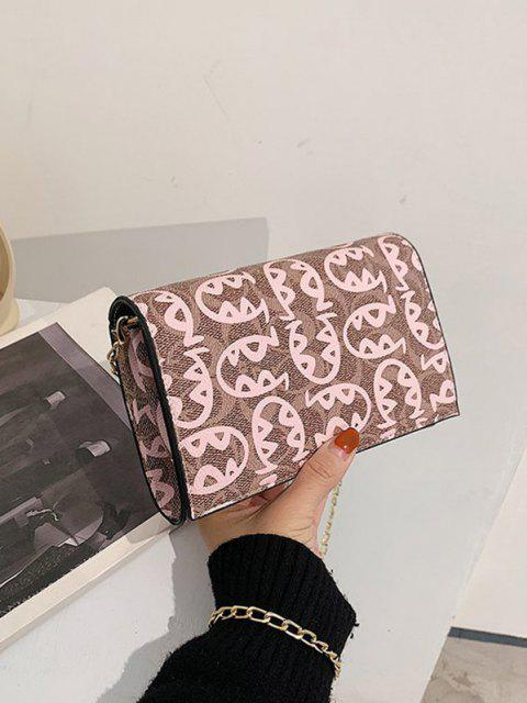 lady Allover Fish Pattern Flap Chain Mini Crossbody Bag - PINK  Mobile