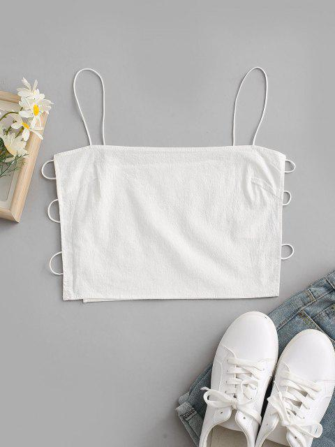 sale Bungee Strap Side Ladder Cutout Napkin Camisole - WHITE S Mobile