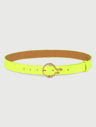 Glarender Fluoreszierender Geschnitzter Goldener Schlangenschnallengürtel - Tee Grün