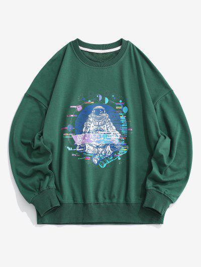 Planeta Astronaut Graphic Drop Sweatshirt - Verde L