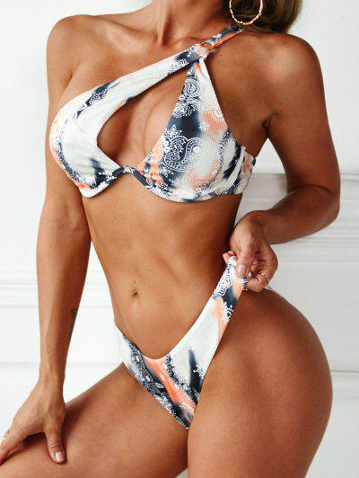 ZAFUL Böhmisches Paisley Druck Bikini Badebekleidung Mit Hohem Schnitt - Multi S