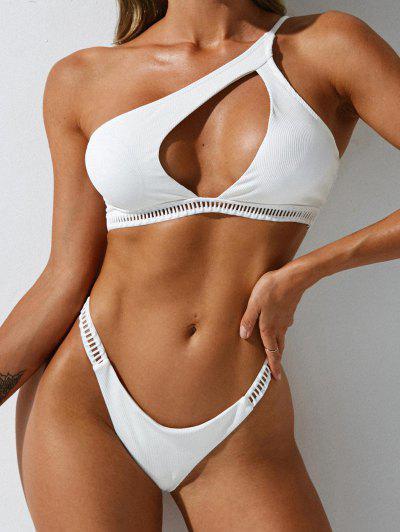 ZAFUL Gerippte Leiter Geschnittene Bikini Badebekleidung Mit Rippen - Weiß M