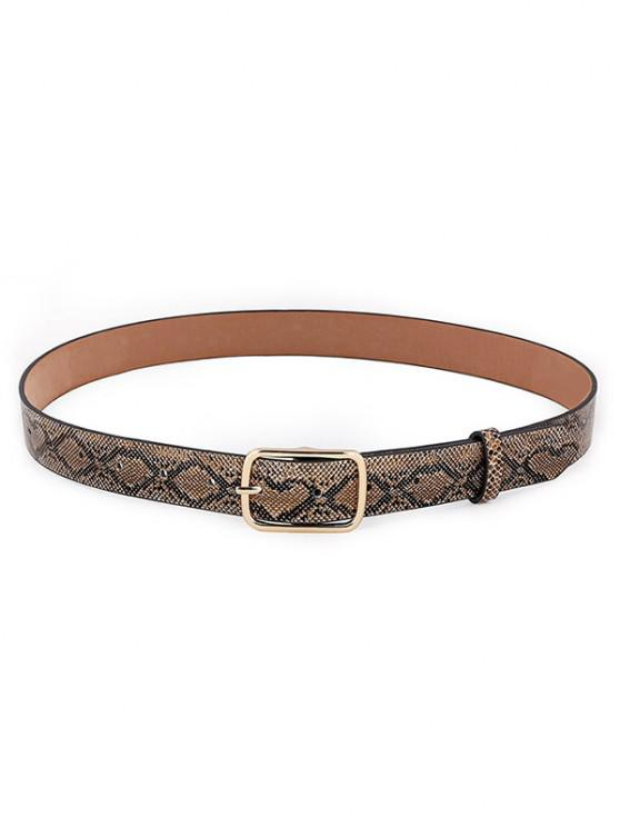outfit Snakeskin Pattern Pin Buckle Belt - DARK GOLDENROD