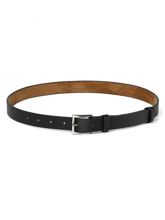 Minimalistic Style Square Buckle Belt - أسود