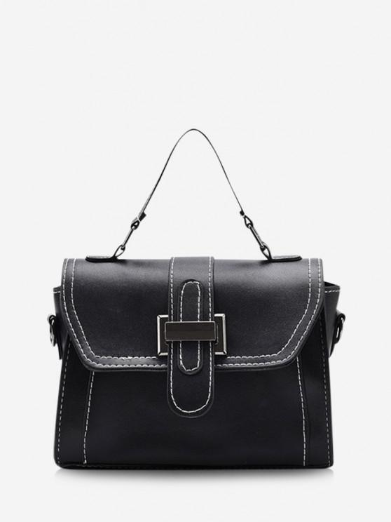 buy Retro Contrast Stitching Crossbody Bag - BLACK