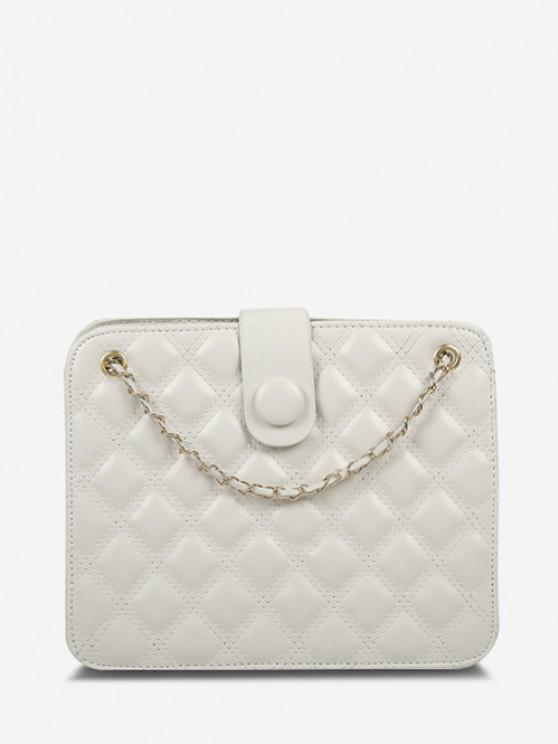 sale Quilted Chain-Trimmed Convertible Strap Square Shoulder Bag - WARM WHITE