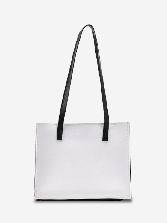 new Minimalist Square Shoulder Bag - WHITE