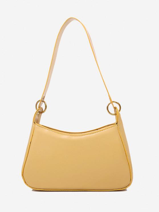shop Minimalist O Ring Shoulder Bag - BEE YELLOW