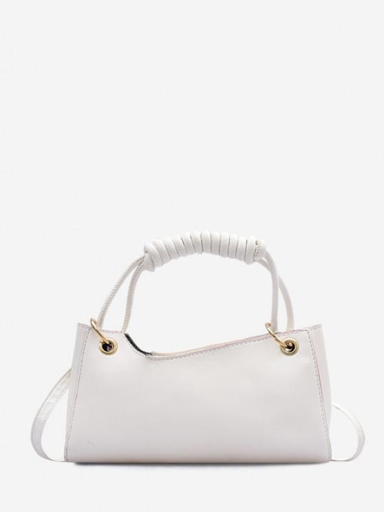 Solid Wrap Handle Handbag - كريم كريستال