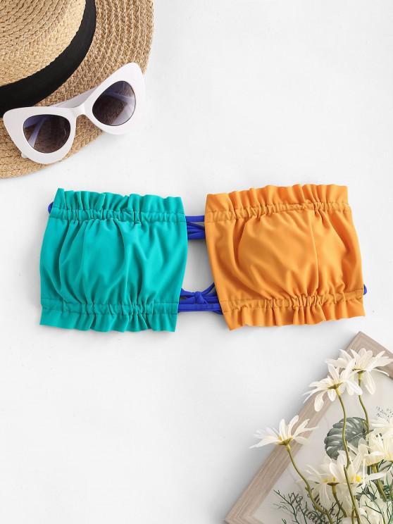 shops ZAFUL Contrast Convertible Padded Bikini Bra - MULTI S