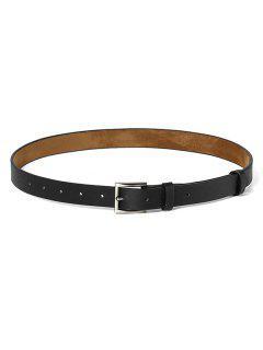 Minimalistic Style Square Buckle Belt - Black