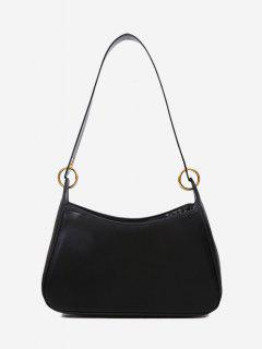 Minimalist O Ring Shoulder Bag - Black