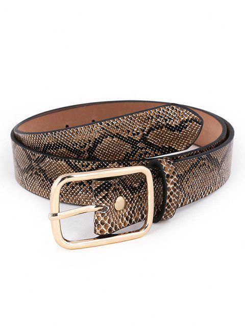 Snakeskin Pattern Pin Buckle Belt - Dark Goldenrod  Mobile