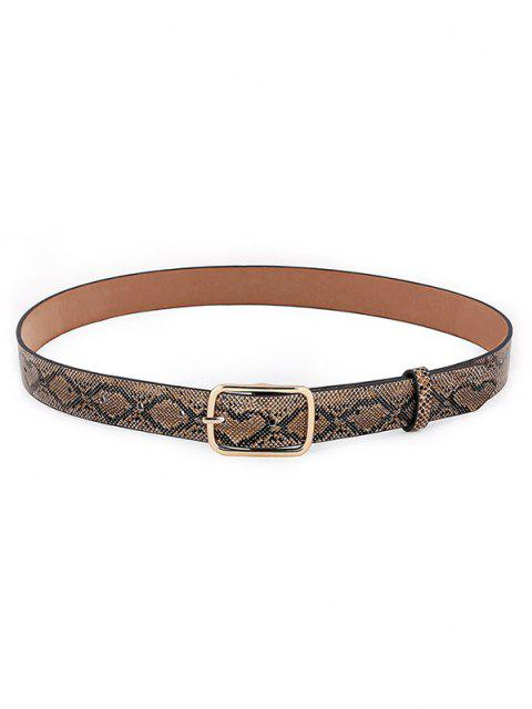outfit Snakeskin Pattern Pin Buckle Belt - DARK GOLDENROD  Mobile