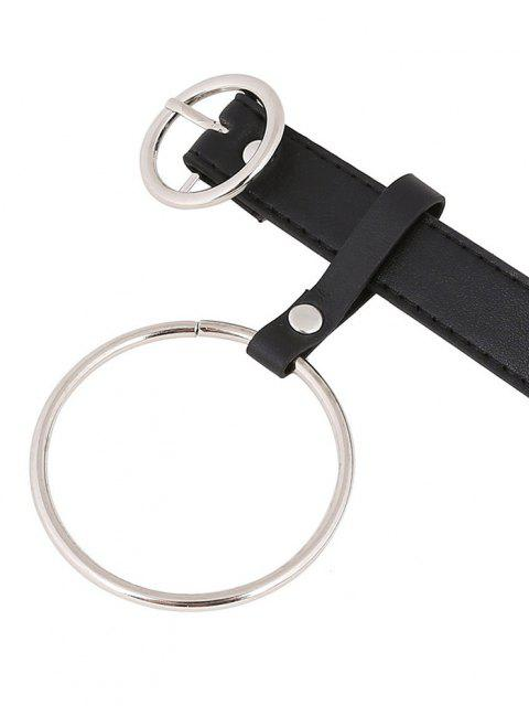 new O Ring Pendant Buckle Belt - BLACK  Mobile