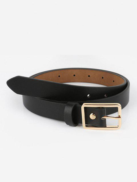 outfit Brief Square Pin Buckle Belt - BLACK  Mobile