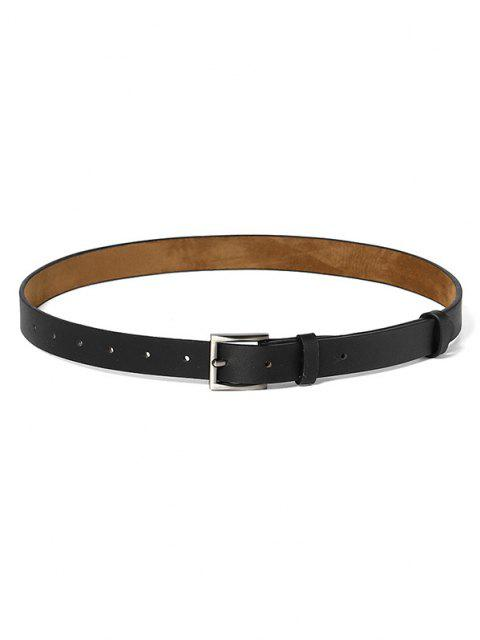 Minimalistic Style Square Buckle Belt - أسود  Mobile
