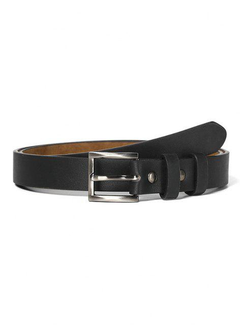 shop Minimalistic Style Square Buckle Belt - BLACK  Mobile