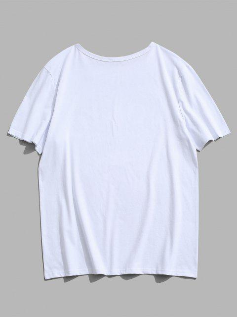 hot Tokyo Tennis Rackets Letter Print Graphic T-shirt - WHITE M Mobile
